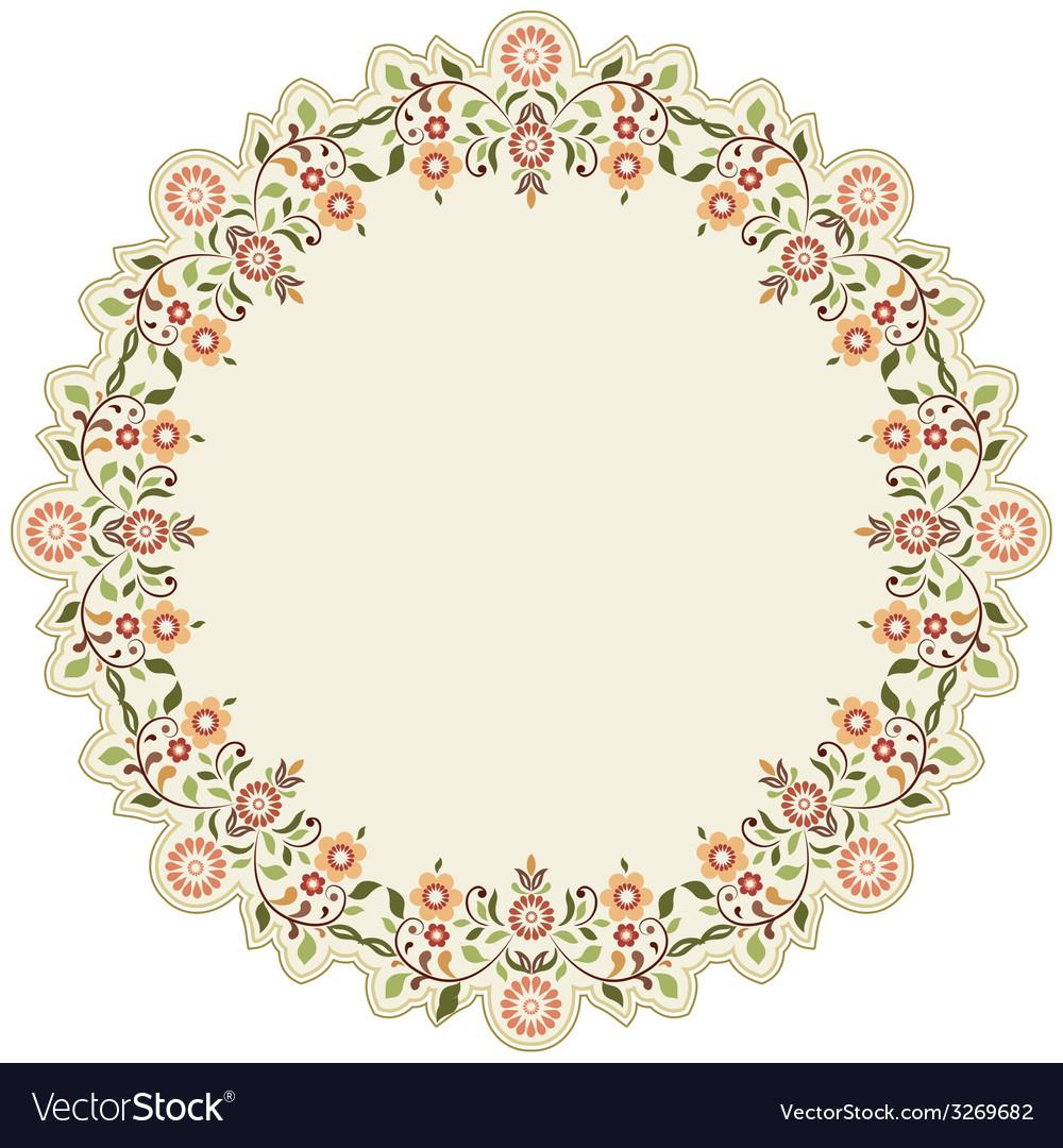 Circular islamic background six vector | Price: 1 Credit (USD $1)