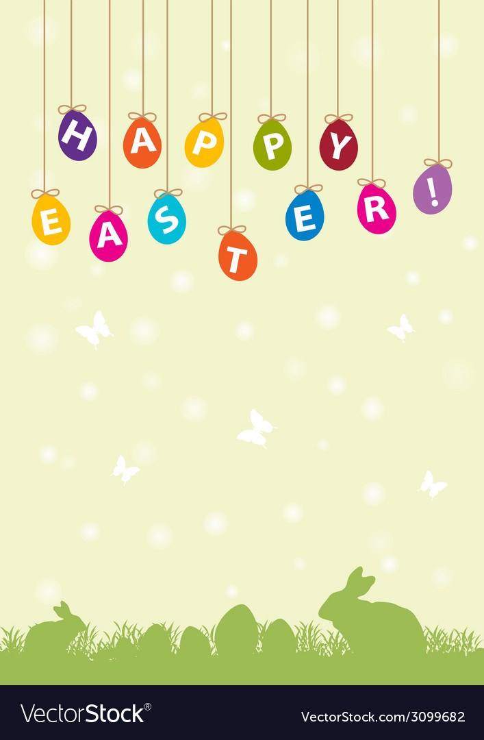 Easter hanging egg background vector | Price: 1 Credit (USD $1)
