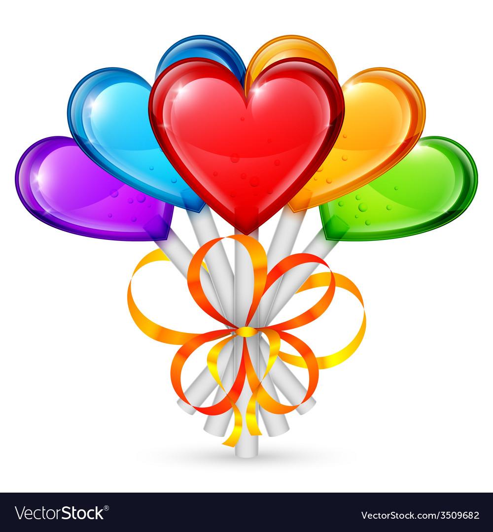 Heart lollipops vector | Price: 1 Credit (USD $1)