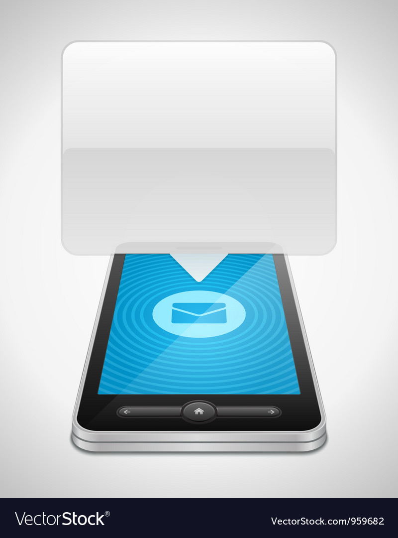 Mobile phone and incoming message icon vector | Price: 3 Credit (USD $3)