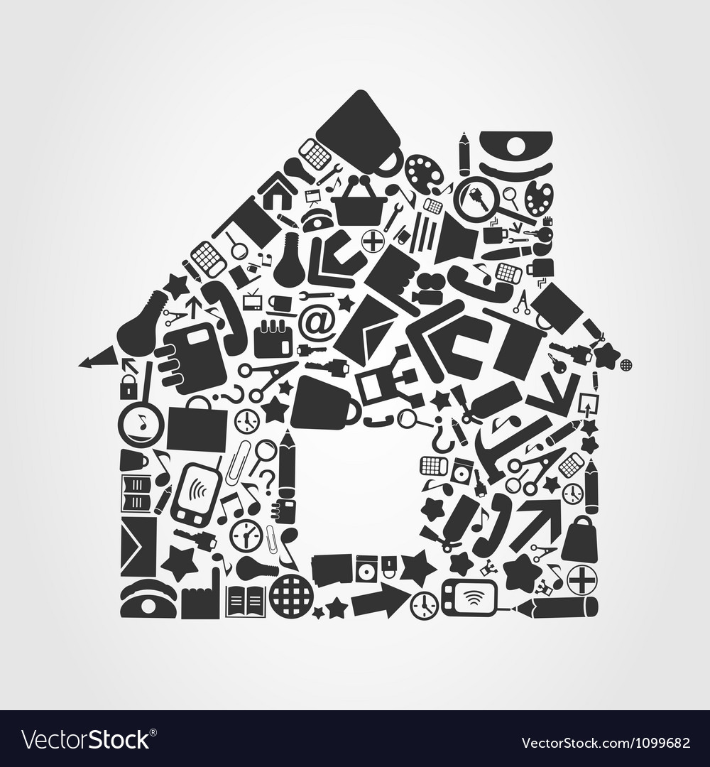 Office the house vector | Price: 1 Credit (USD $1)