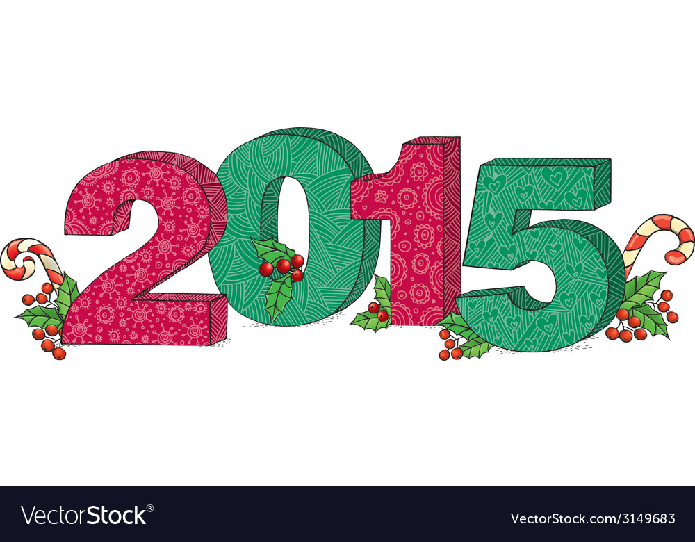2015 year vector | Price: 1 Credit (USD $1)