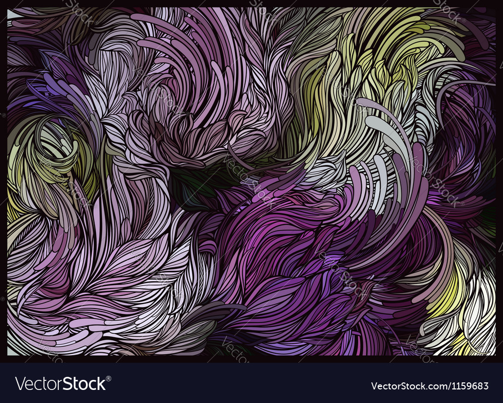 Abstract floral design in light purple vector | Price: 1 Credit (USD $1)
