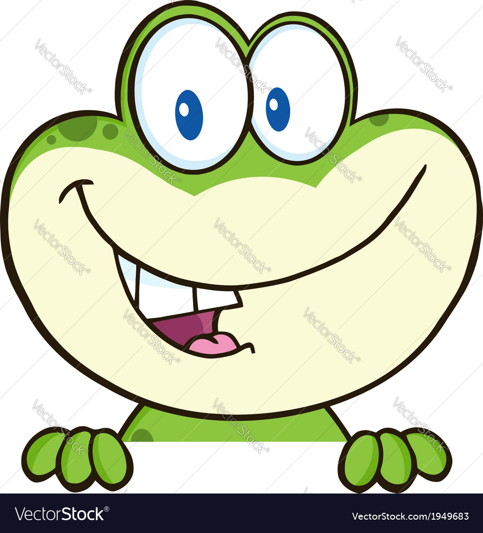 Cartoon frog vector | Price: 1 Credit (USD $1)