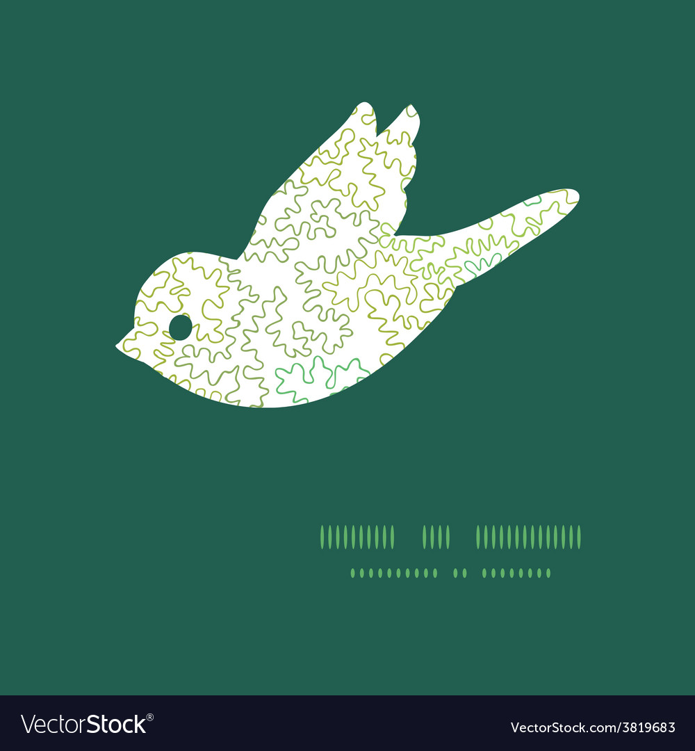 Curly doodle shapes bird silhouette pattern vector | Price: 1 Credit (USD $1)