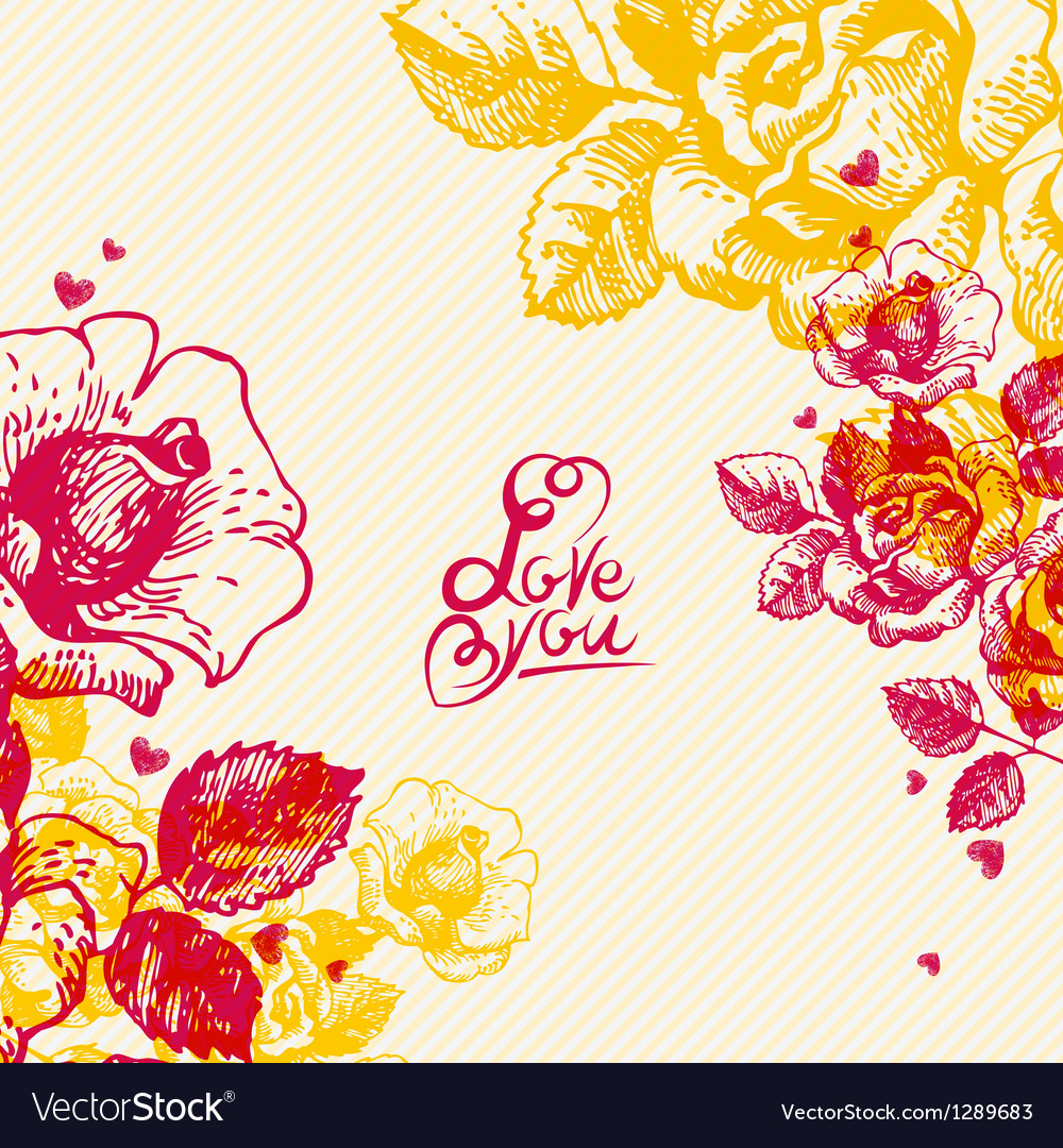 Floral background with hand lettering vector | Price: 1 Credit (USD $1)