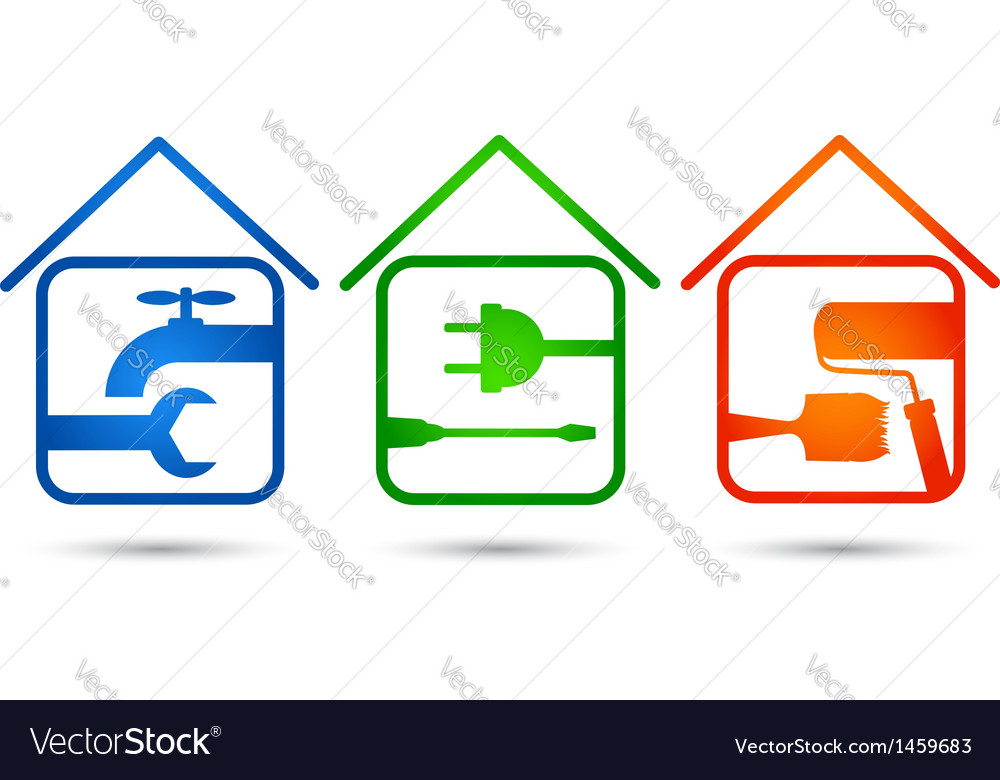 Home repair vector | Price: 1 Credit (USD $1)