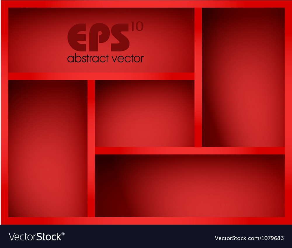 Red shelf vector | Price: 1 Credit (USD $1)