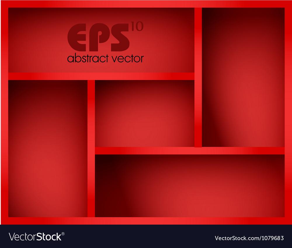 Red shelf vector | Price: 1 Credit (USD $1)