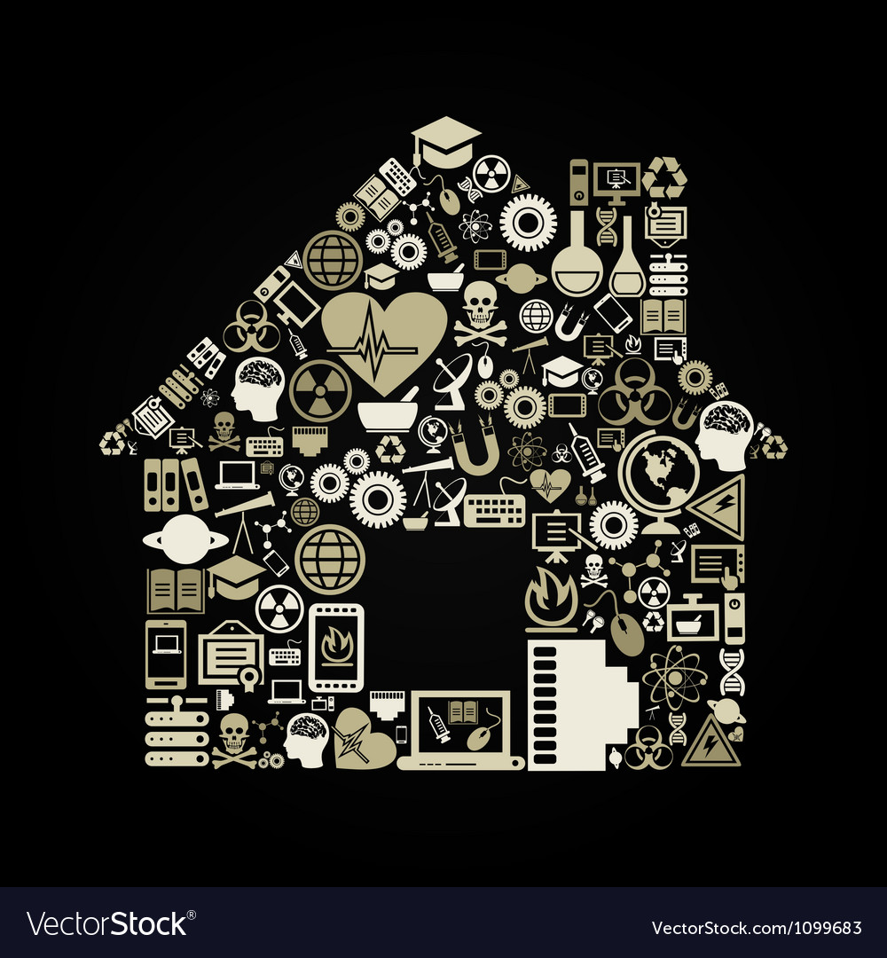 Science the house vector | Price: 1 Credit (USD $1)
