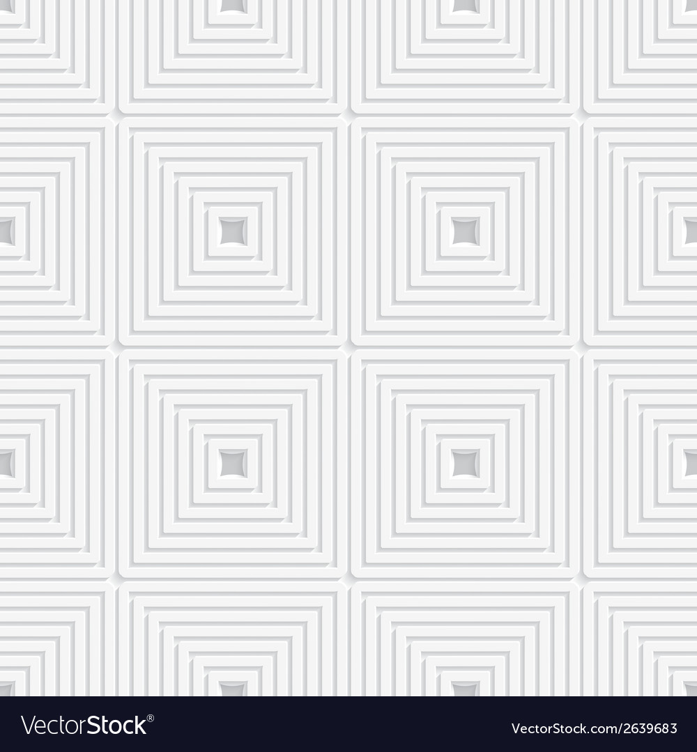 White offset squares tile ornament vector | Price: 1 Credit (USD $1)