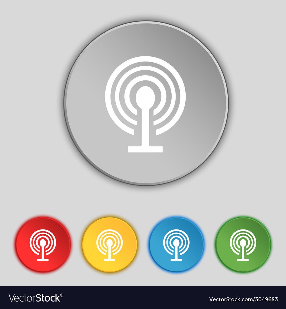 Wifi sign wi-fi symbol wireless network icon zone vector | Price: 1 Credit (USD $1)