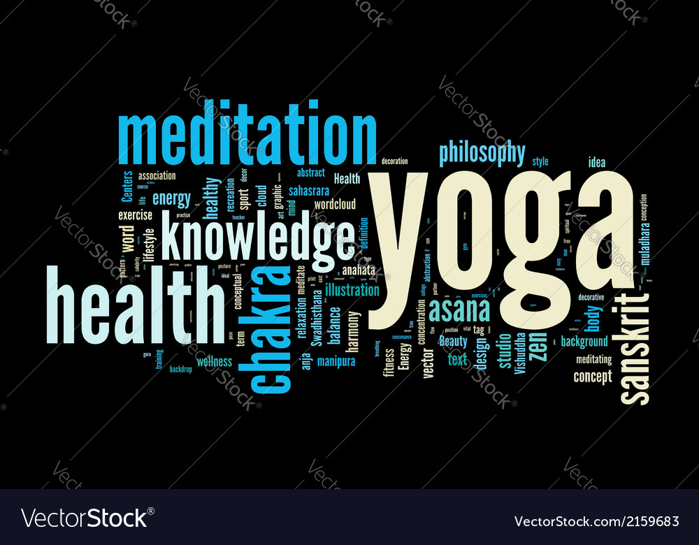 Yoga word cloud concept vector | Price: 1 Credit (USD $1)