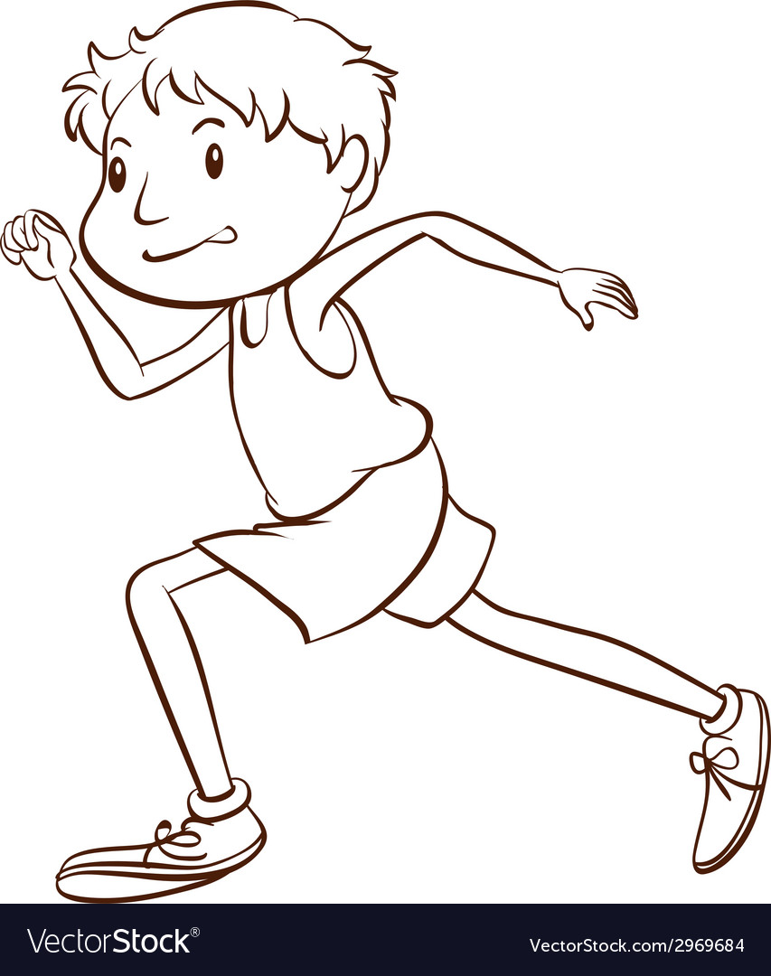 A simple sketch of a man running vector | Price: 1 Credit (USD $1)
