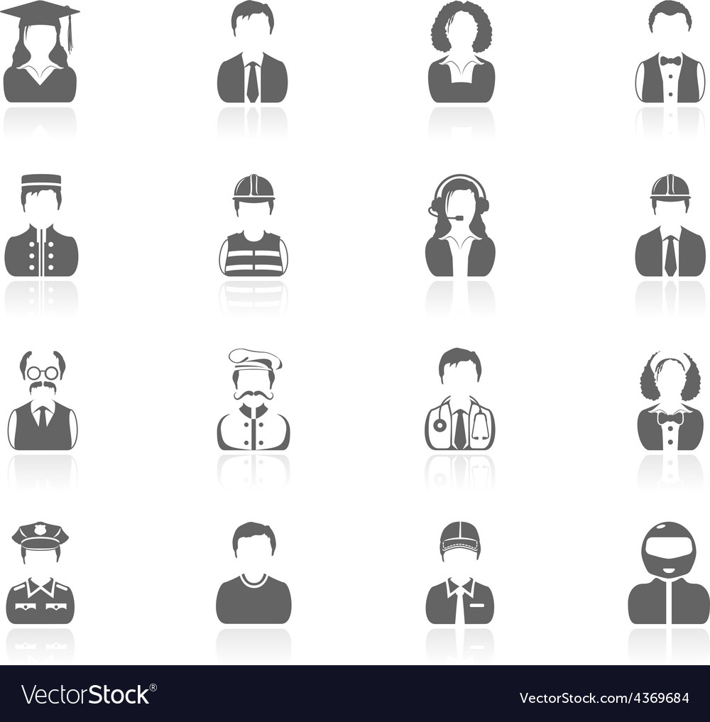 Black icons - people vector | Price: 1 Credit (USD $1)