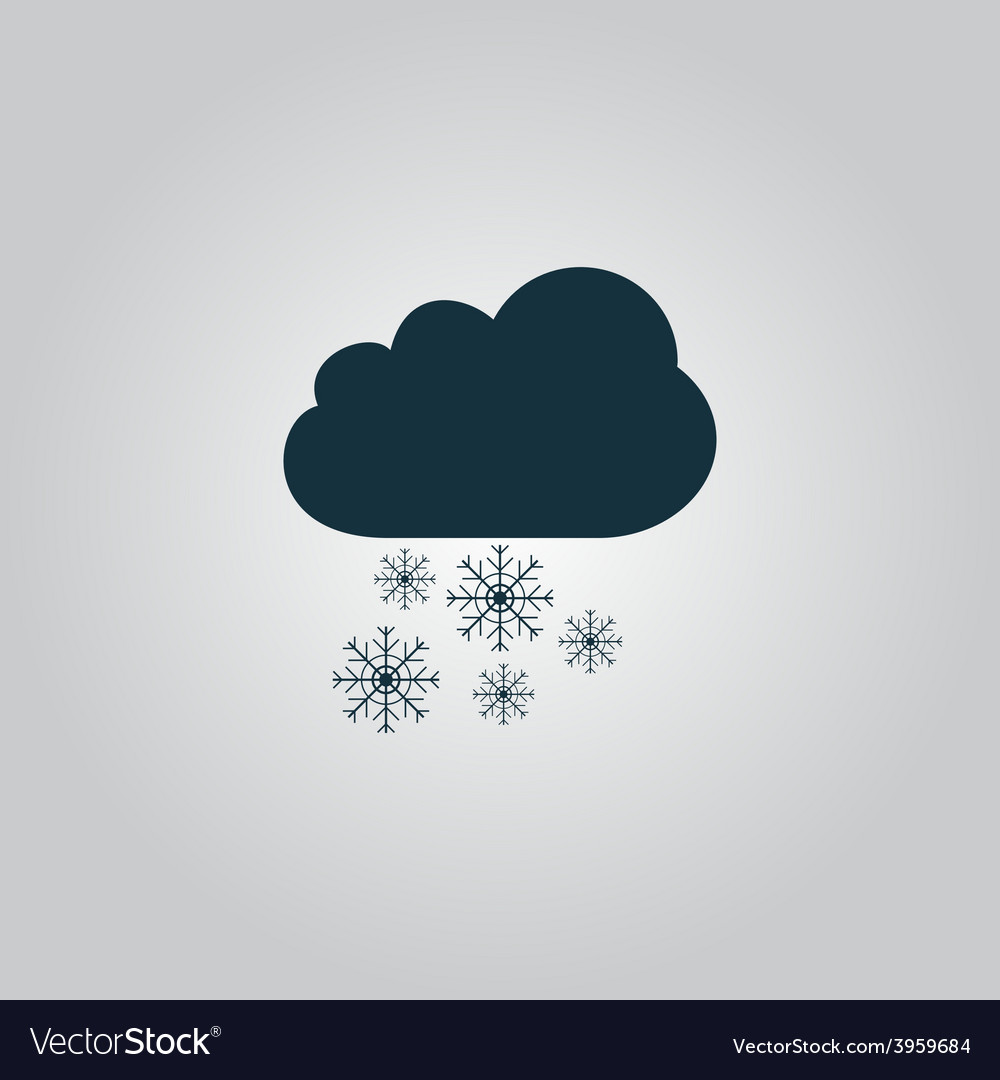 Cloud and snowflakes vector   Price: 1 Credit (USD $1)