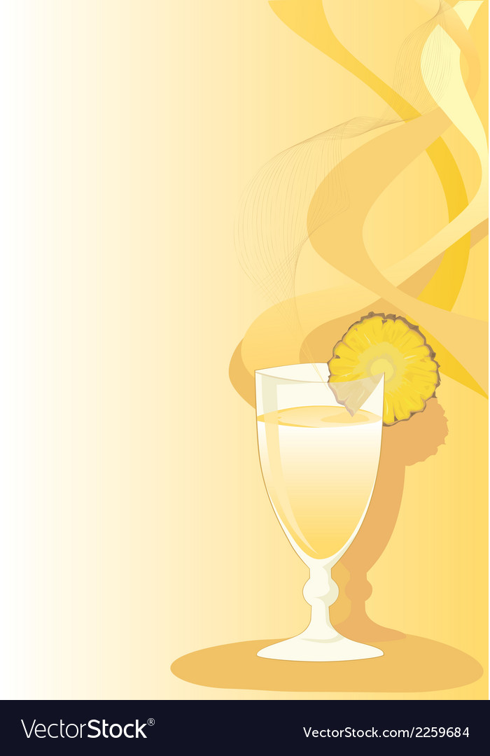 Cocktail glass with ananas vector | Price: 1 Credit (USD $1)