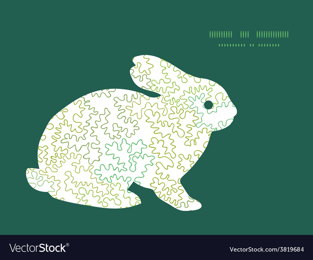Curly doodle shapes bunny rabbit silhouette vector | Price: 1 Credit (USD $1)