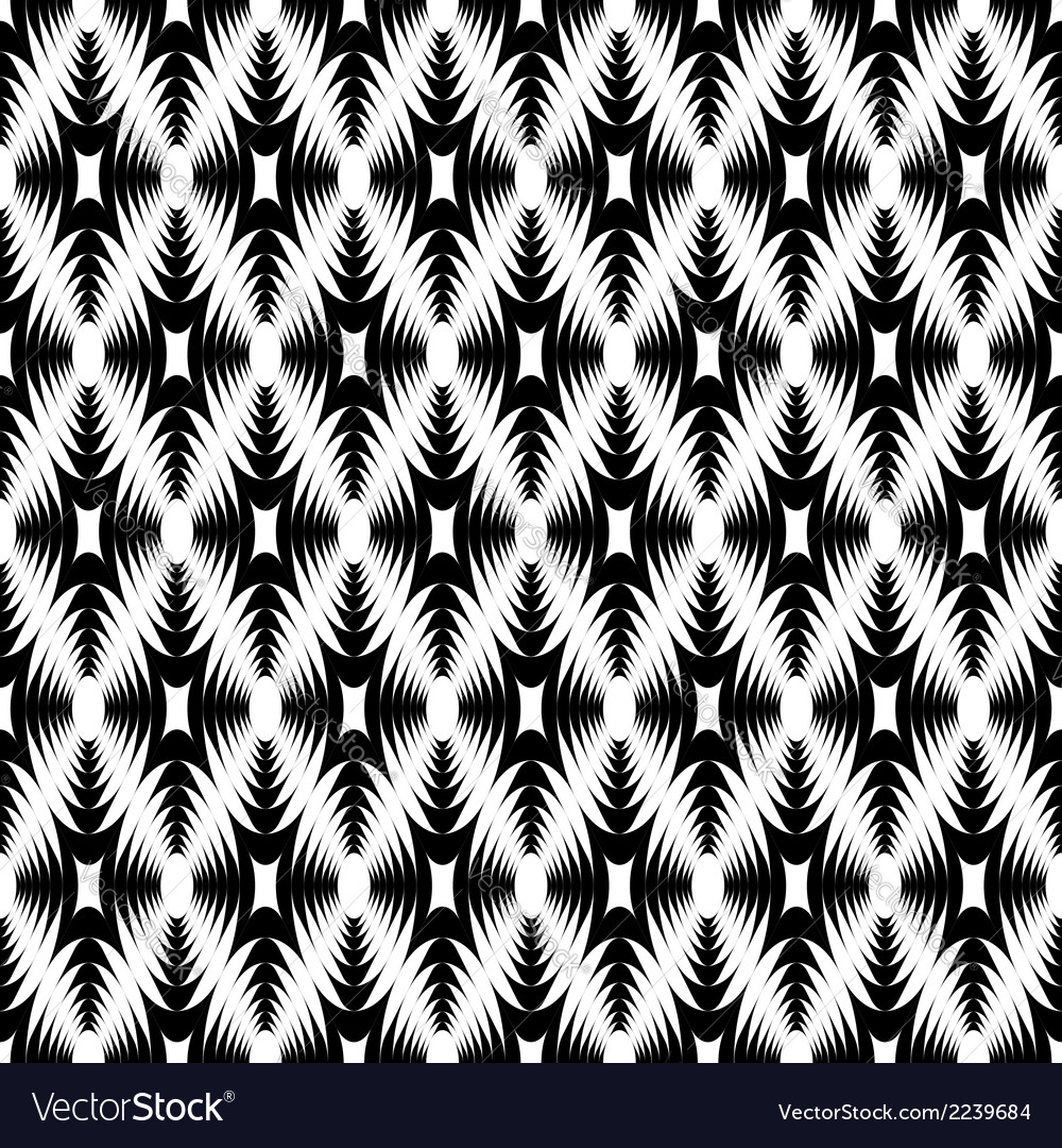 Design seamless monochrome geometric pattern vector | Price: 1 Credit (USD $1)