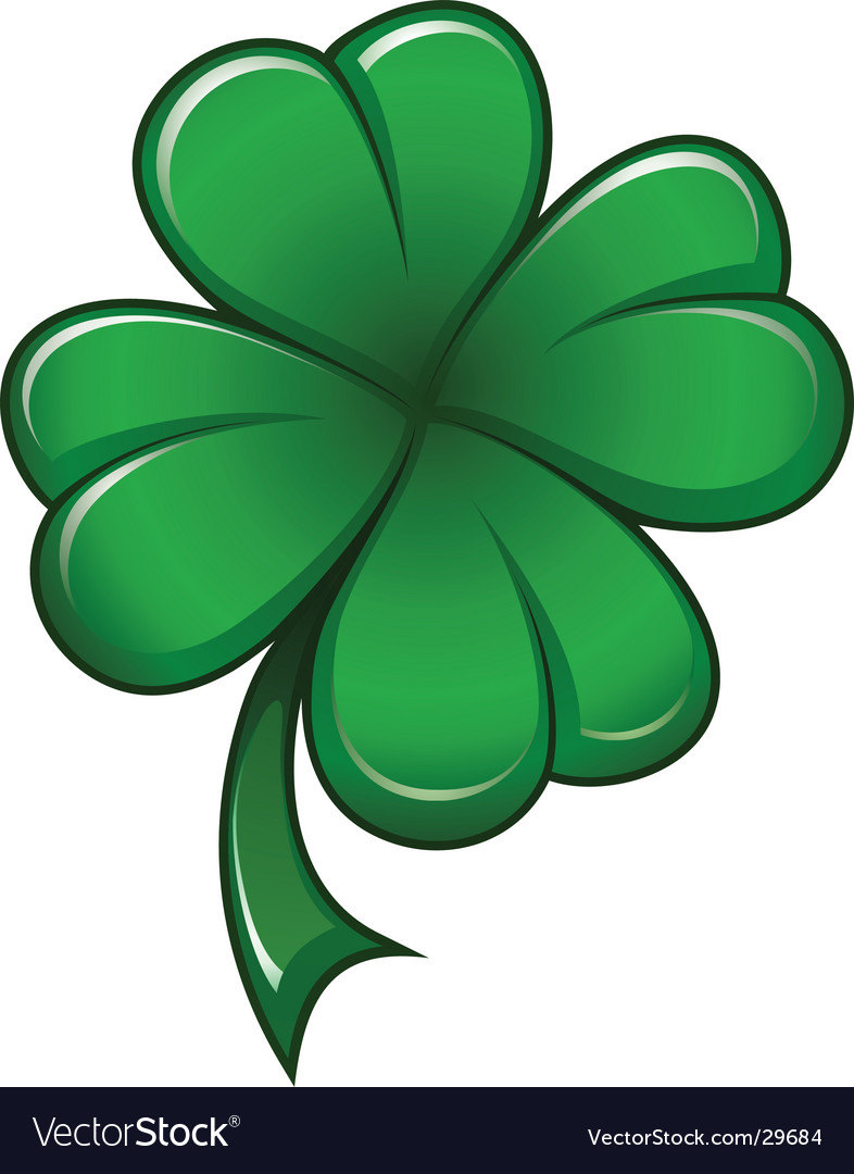 Four-leafs clover vector | Price: 1 Credit (USD $1)
