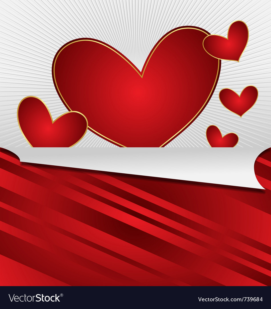 Heart valentines day card vector | Price: 1 Credit (USD $1)