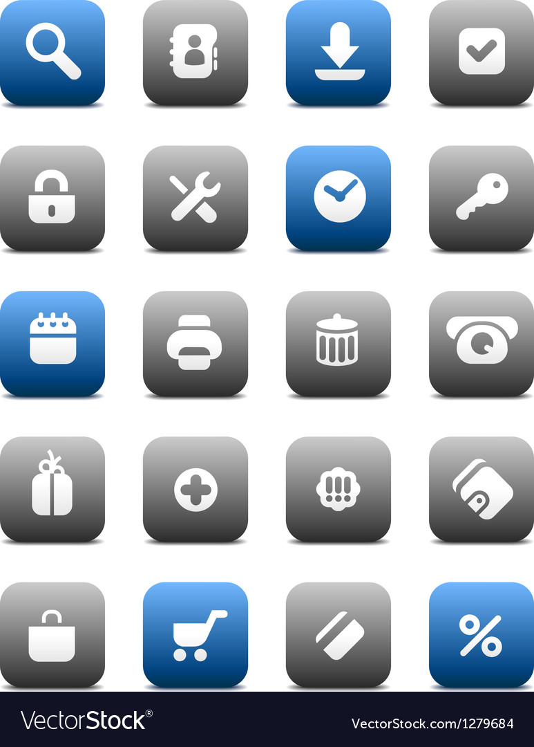 Matte buttons for internet vector | Price: 1 Credit (USD $1)