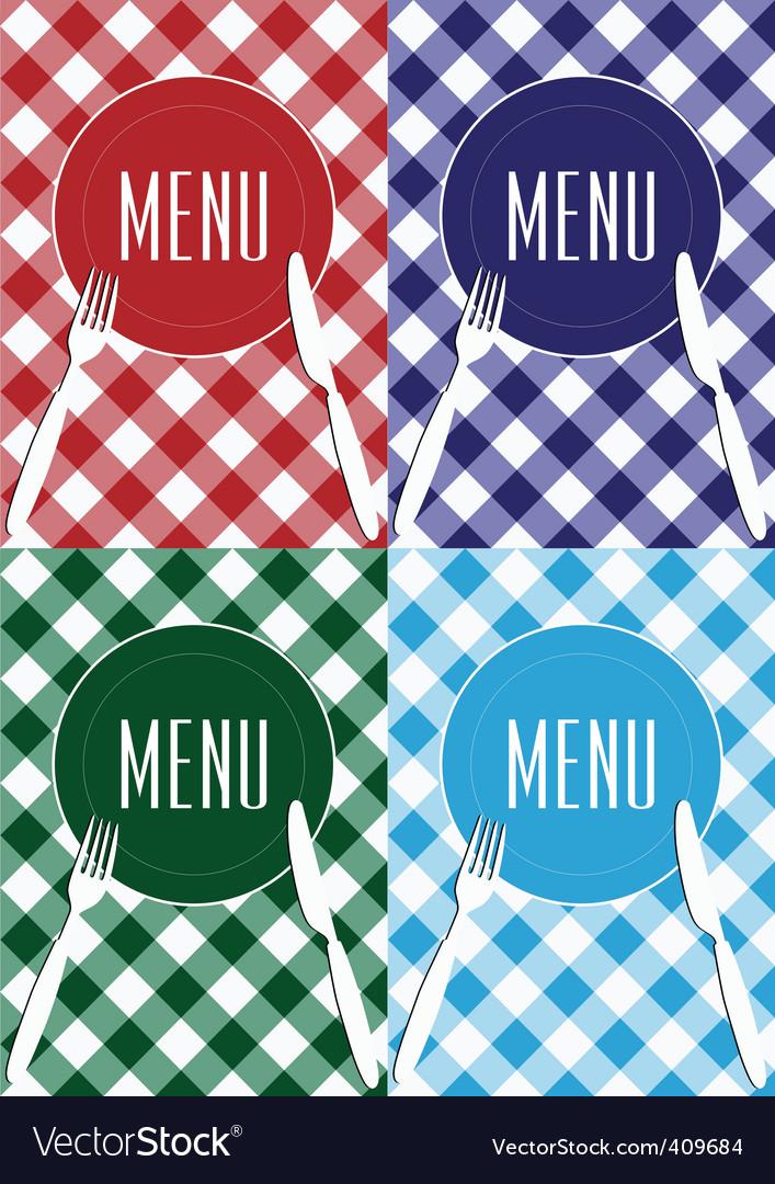 Set of menu card covers vector | Price: 1 Credit (USD $1)