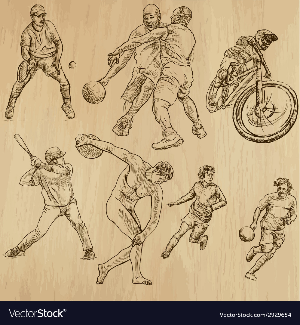 Sport - an hand drawn pack vector | Price: 1 Credit (USD $1)