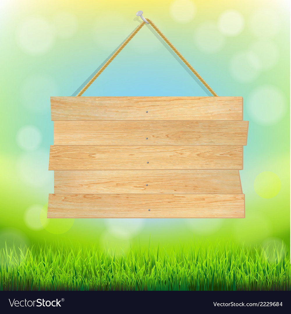 Summer banner with grass vector | Price: 1 Credit (USD $1)
