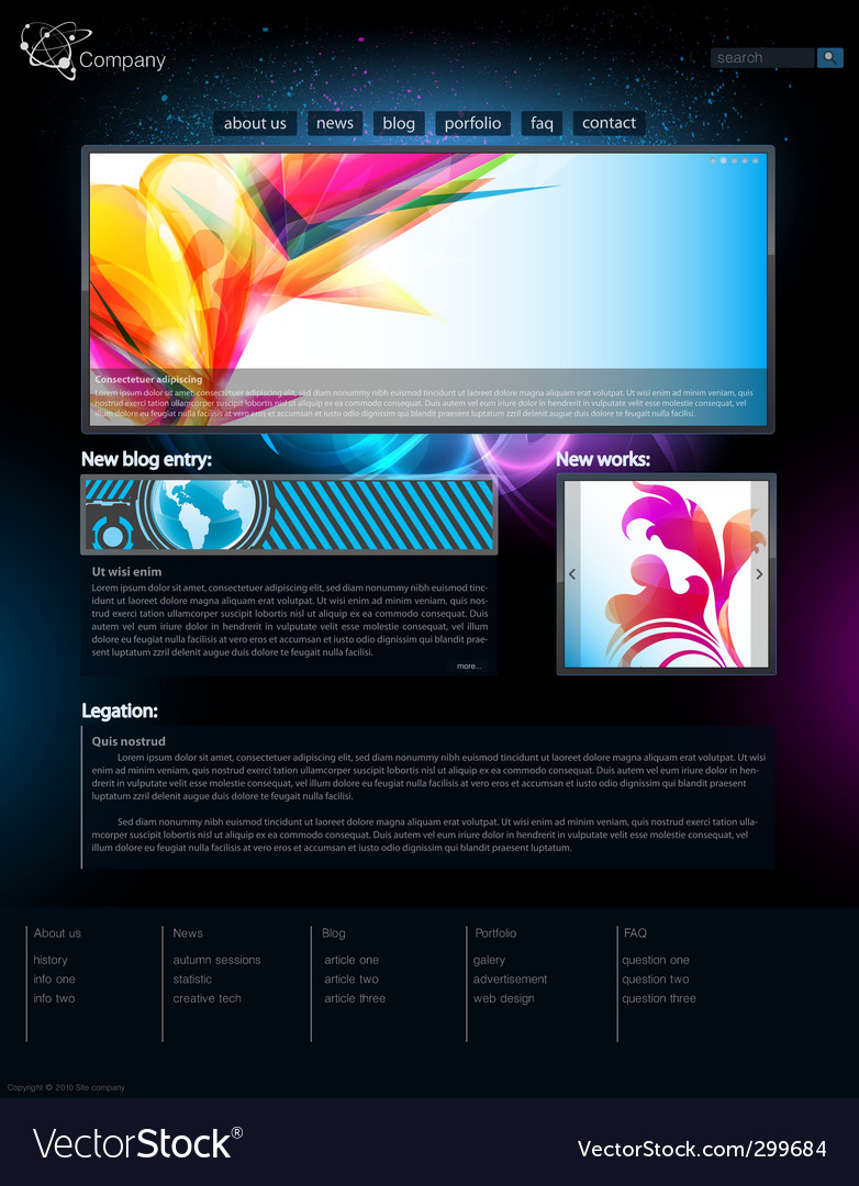 Web site template vector | Price: 3 Credit (USD $3)