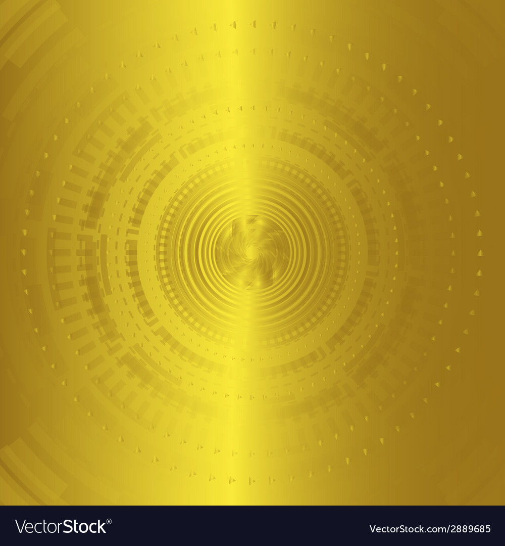 Abstract background technology circles golden vector | Price: 1 Credit (USD $1)