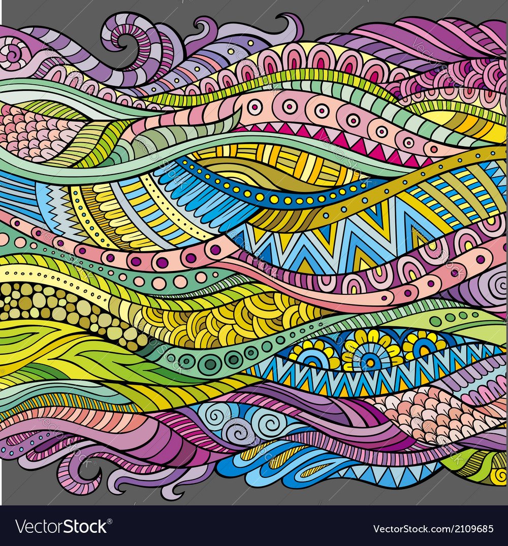 Abstract decorative waves background vector | Price: 1 Credit (USD $1)