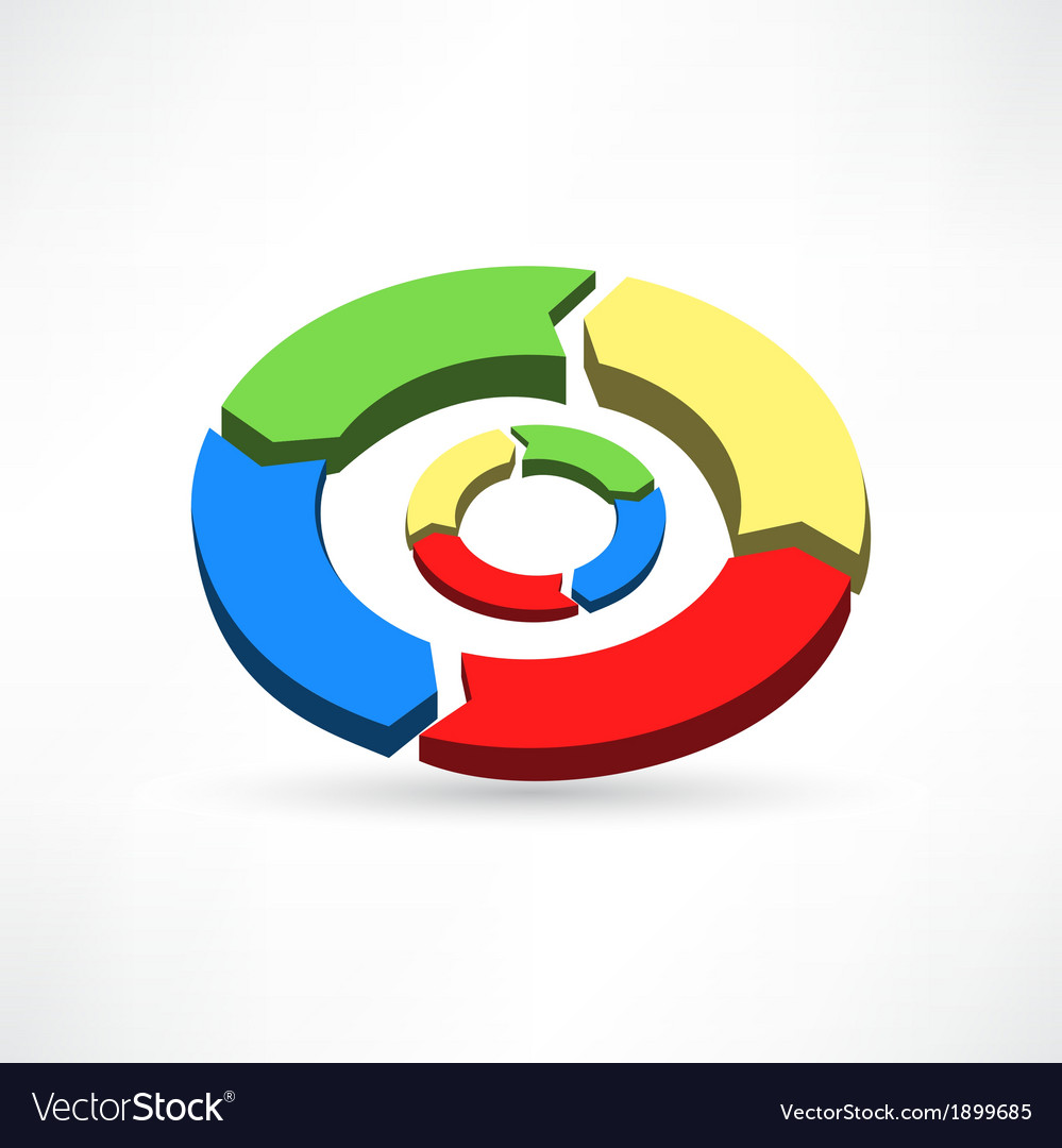 Circular arrows icon vector | Price: 1 Credit (USD $1)