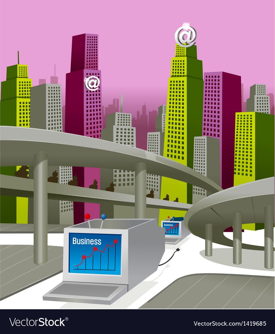 City skyline business growth vector   Price: 1 Credit (USD $1)