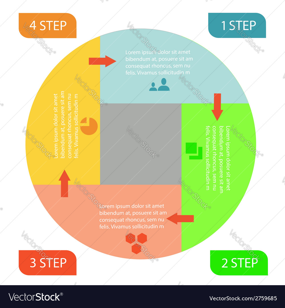 Infographic business circle vector | Price: 1 Credit (USD $1)