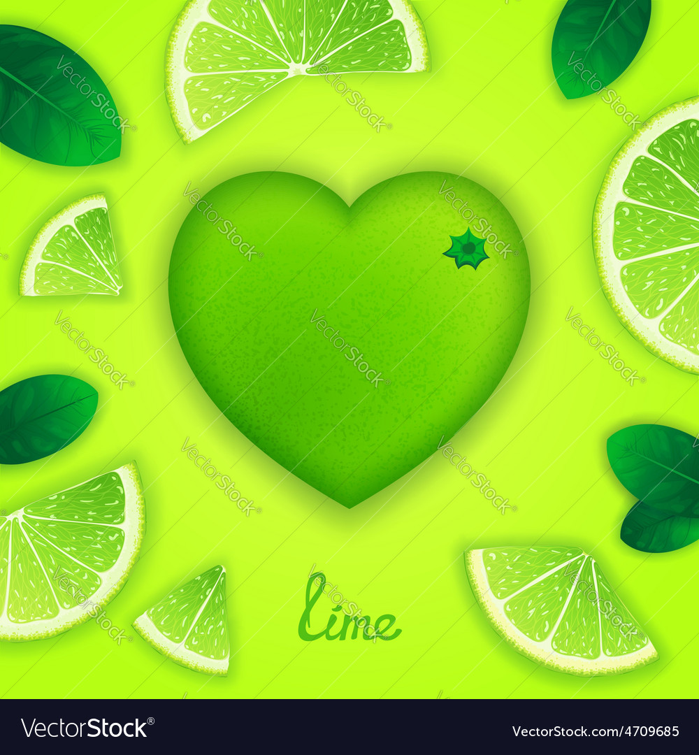Lime art composition vector | Price: 1 Credit (USD $1)
