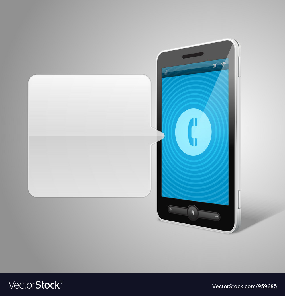 Mobile phone and incoming call icon vector | Price: 3 Credit (USD $3)