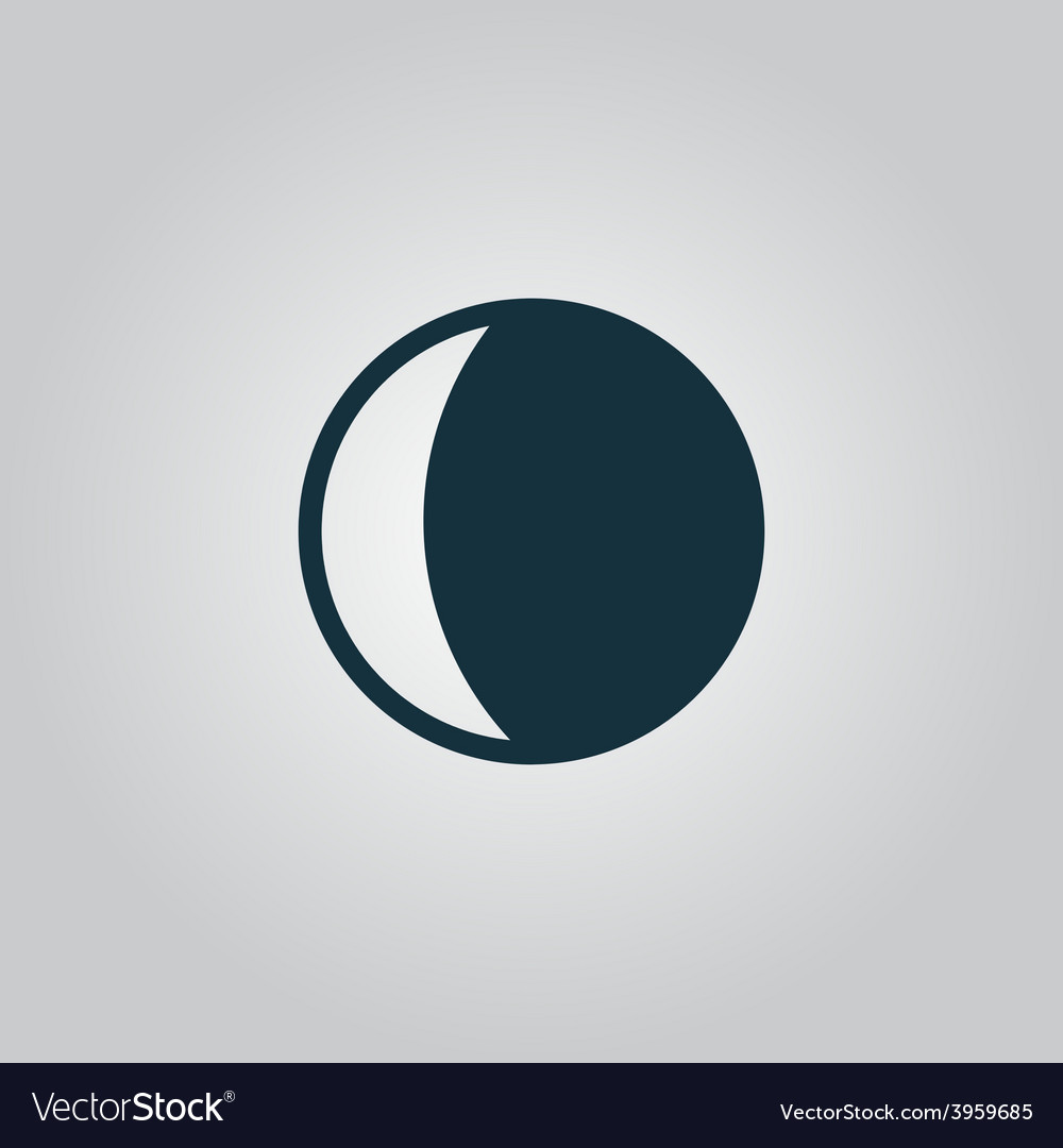 Moon icon vector | Price: 1 Credit (USD $1)