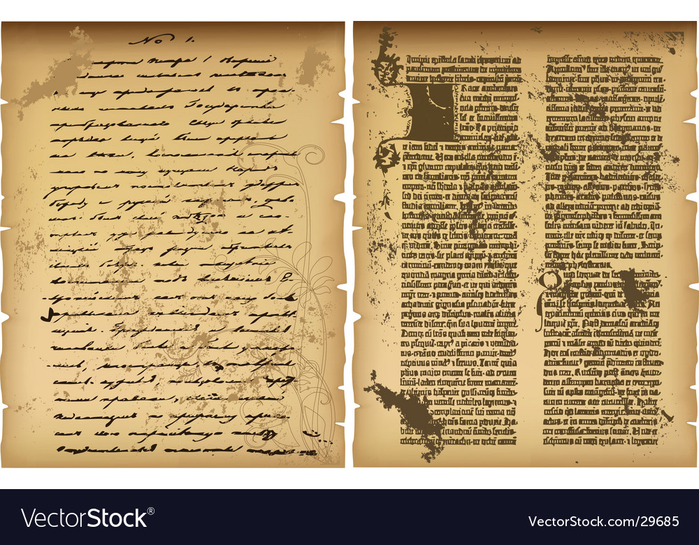 Old manuscript vector | Price: 1 Credit (USD $1)