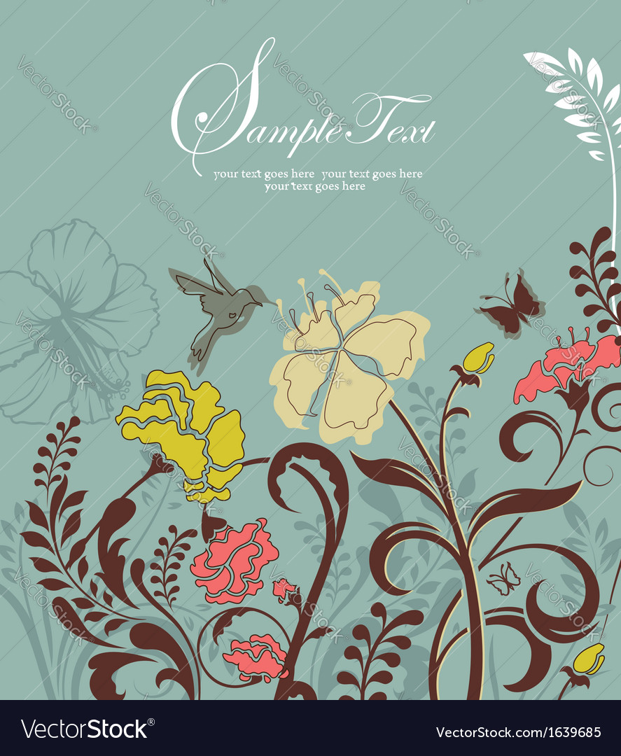 Ornate invitation card vector | Price: 1 Credit (USD $1)