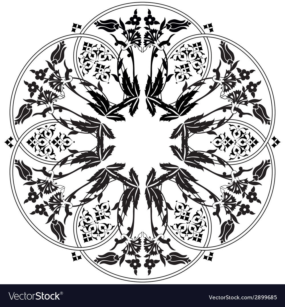 Ottoman motifs design series ninety one vector | Price: 1 Credit (USD $1)