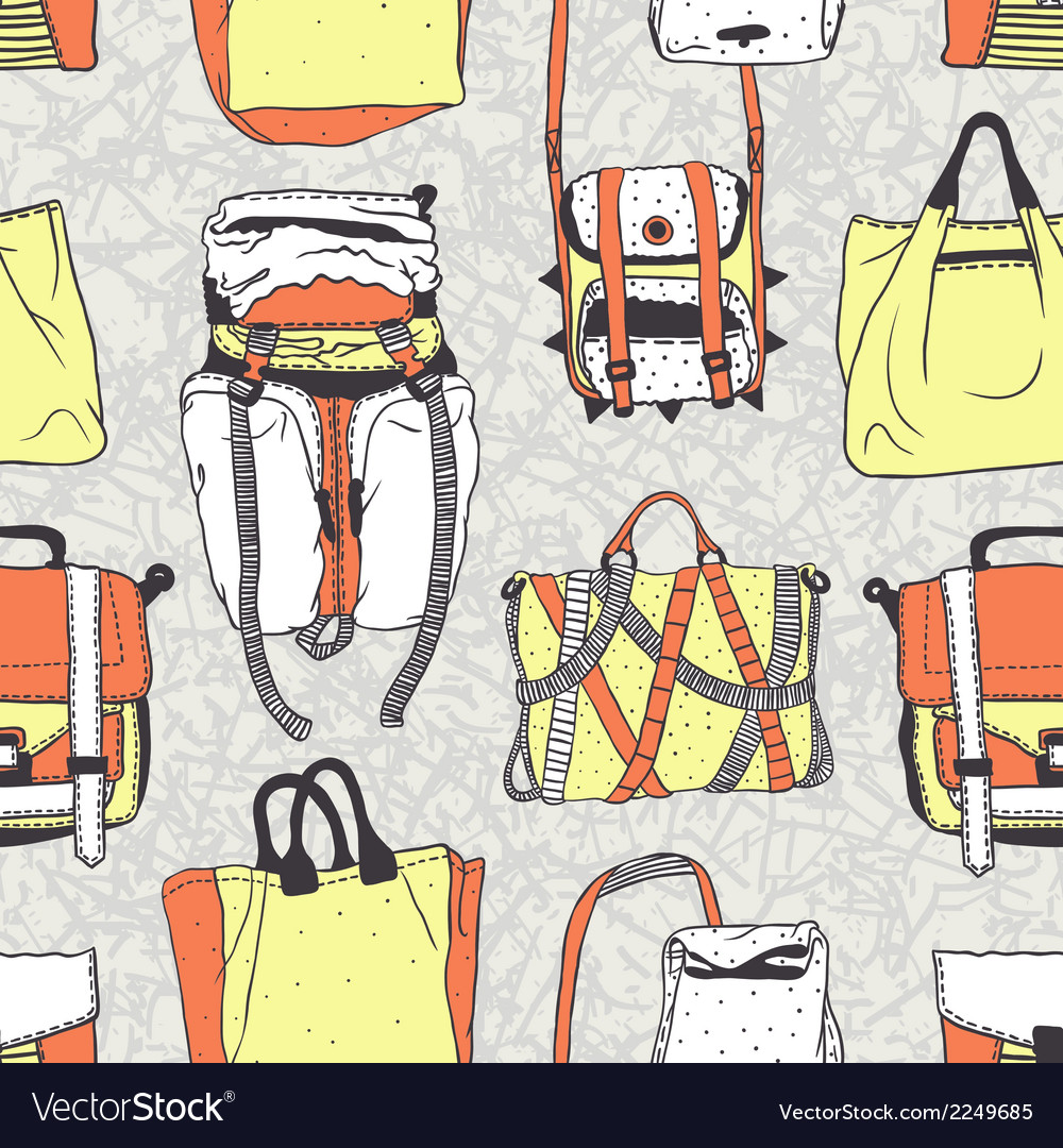 Seamless pattern with original bags vector | Price: 1 Credit (USD $1)