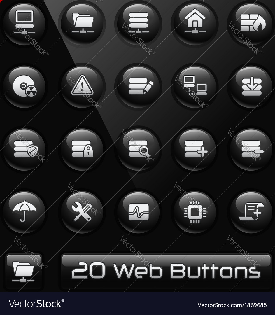 Server icons vector | Price: 1 Credit (USD $1)
