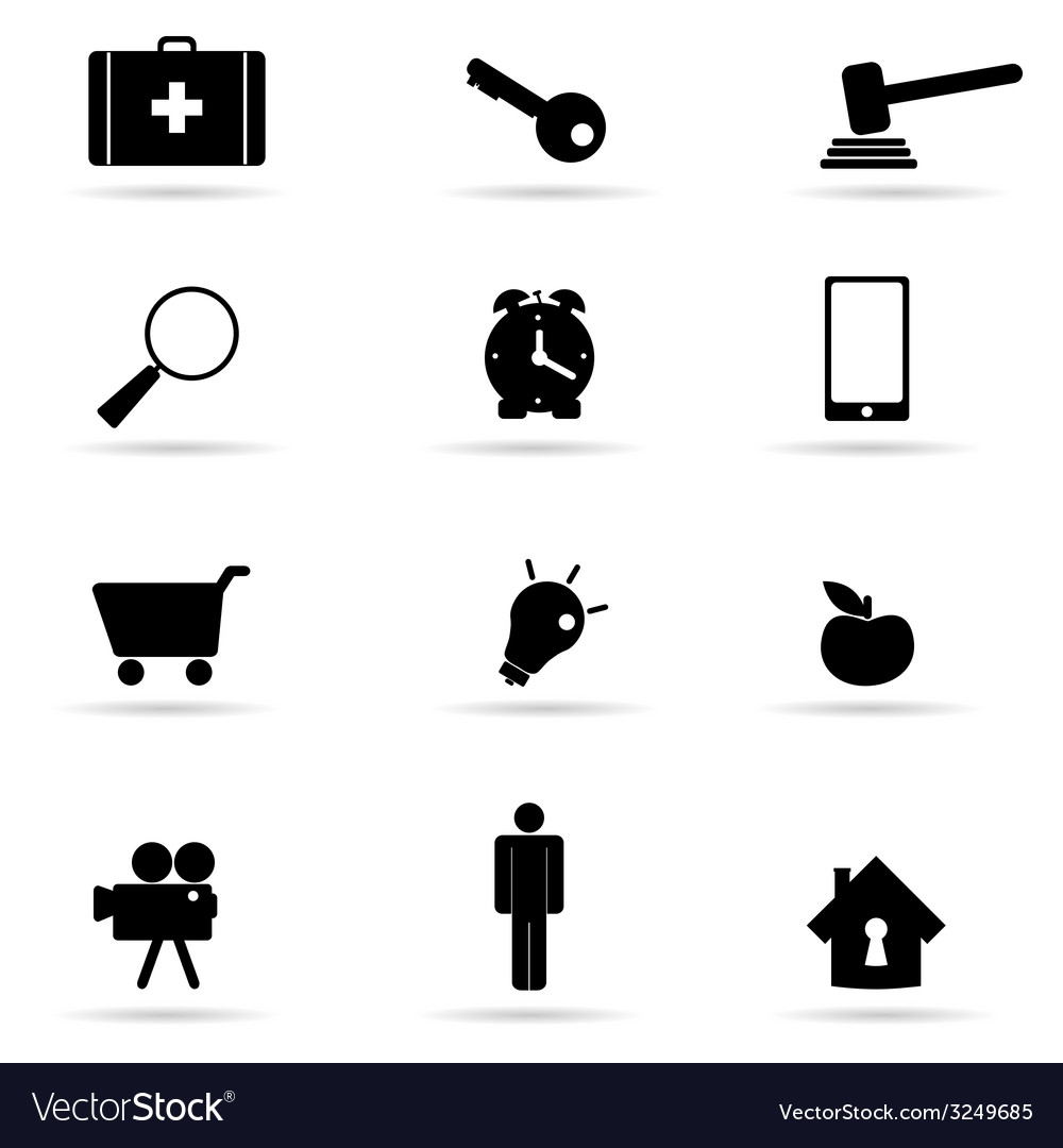Set of icon in black vector   Price: 1 Credit (USD $1)
