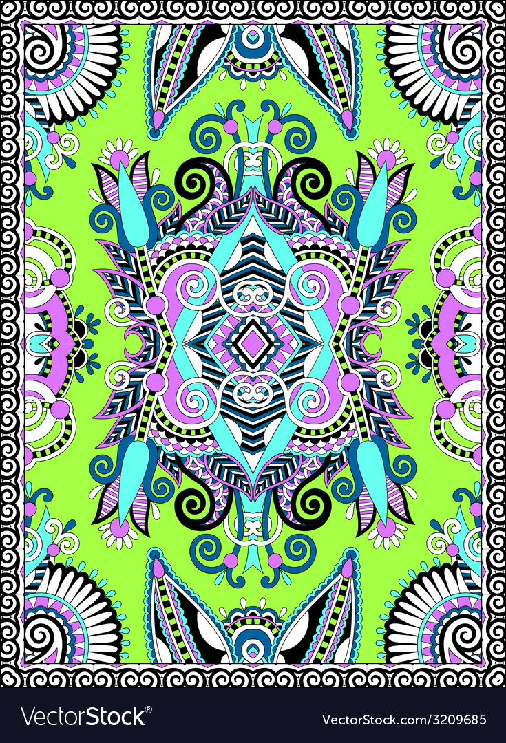 Ukrainian floral carpet design for print on canvas vector | Price: 1 Credit (USD $1)