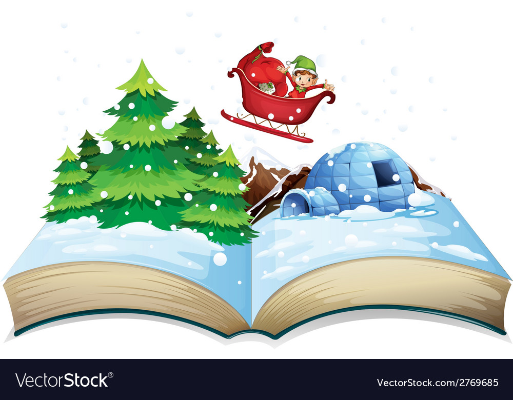 Winter book vector | Price: 3 Credit (USD $3)