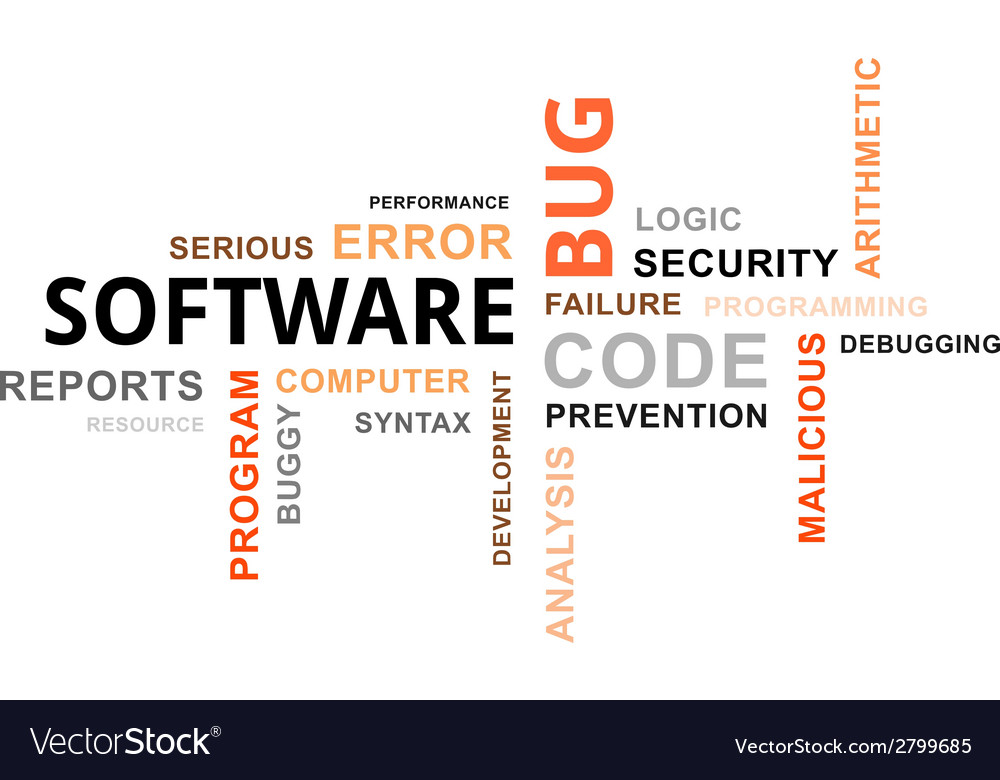Word cloud software bug vector | Price: 1 Credit (USD $1)