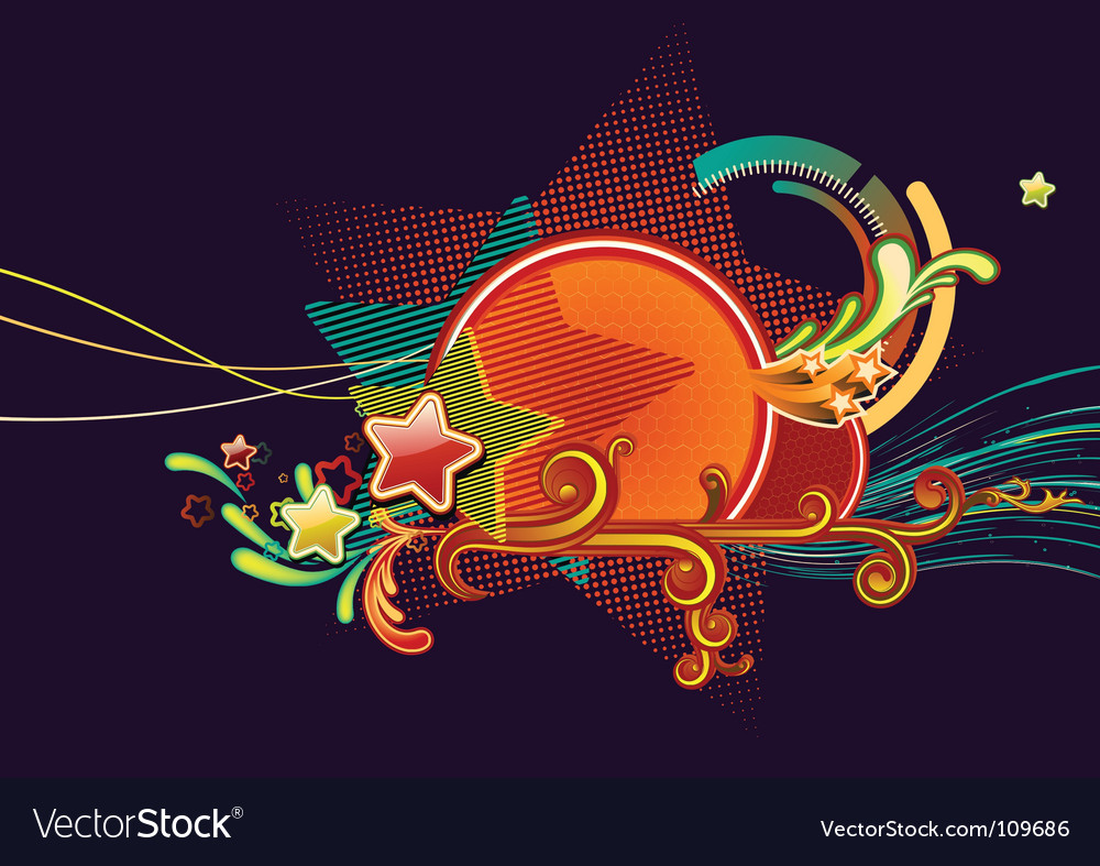 Candy colorful stars vector | Price: 1 Credit (USD $1)
