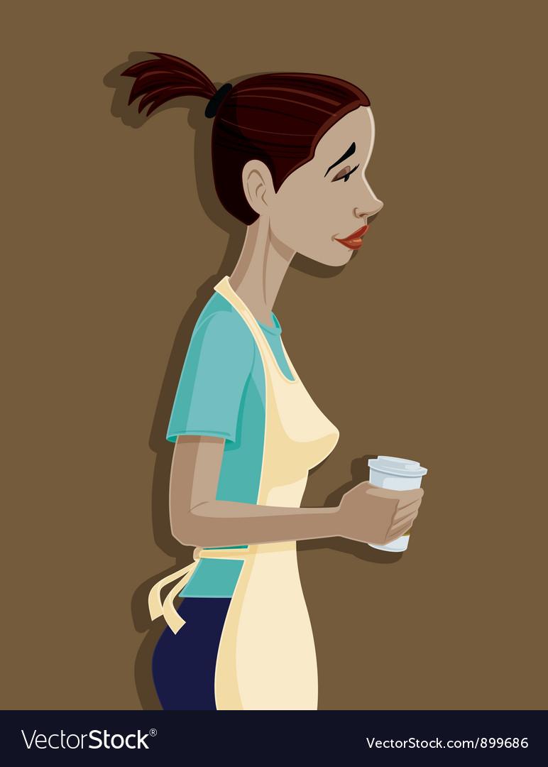 Coffee shop girl vector | Price: 3 Credit (USD $3)