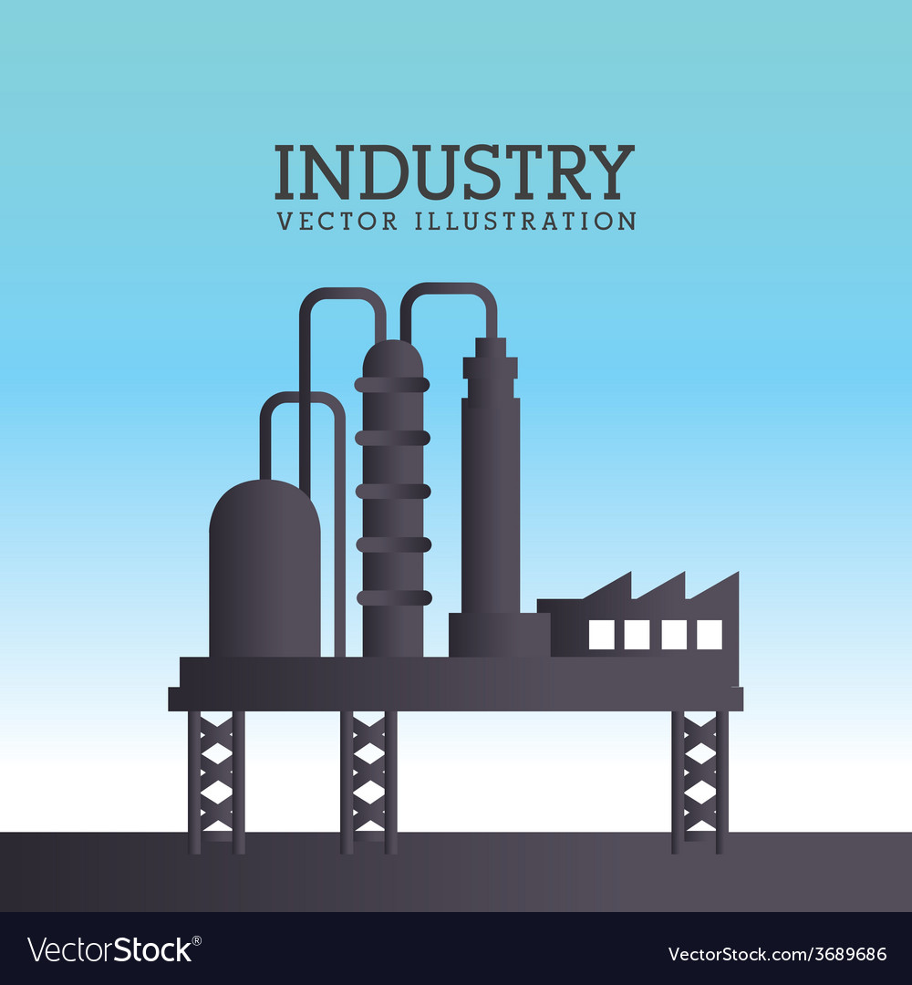 Industry design over blue background vector | Price: 1 Credit (USD $1)